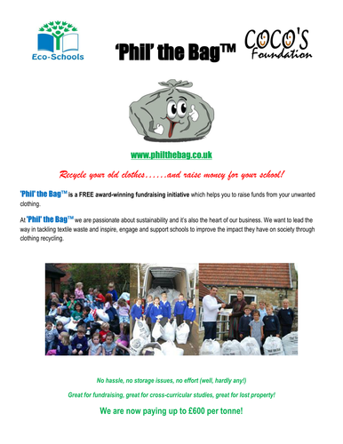 08859cfaa5a Guide to Textile Recycling in Schools/Fundraising by PhilTheBag - Teaching  Resources - Tes