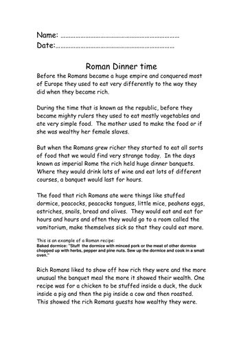 Roman food activity y4 by lawood0 teaching resources tes forumfinder Image collections