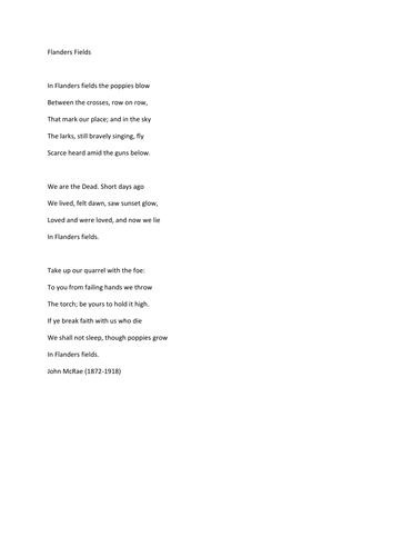Perspectives on War Poetry comprehension by RebeccaHWilliams ...