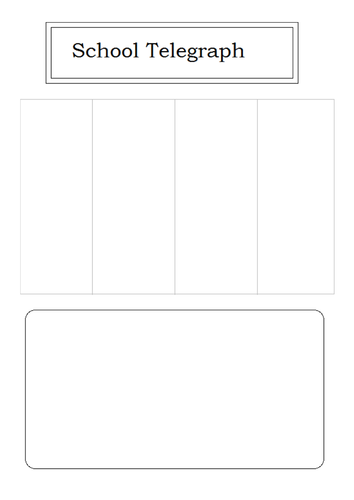 newspaper headlines activity template for article by uk teaching resources tes. Black Bedroom Furniture Sets. Home Design Ideas