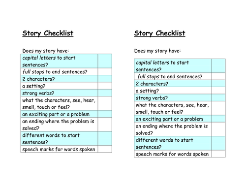 Features of Writing Genres Checklist Pack