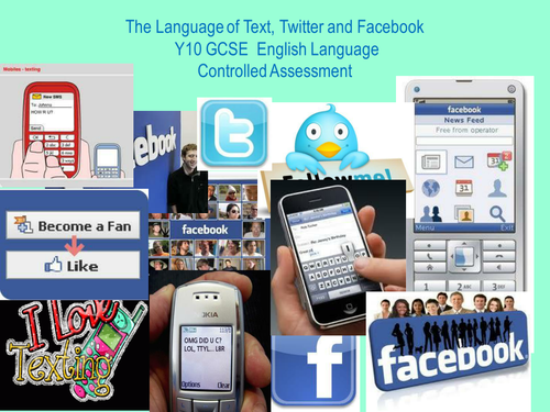 The Language of Text Twitter and Facebook