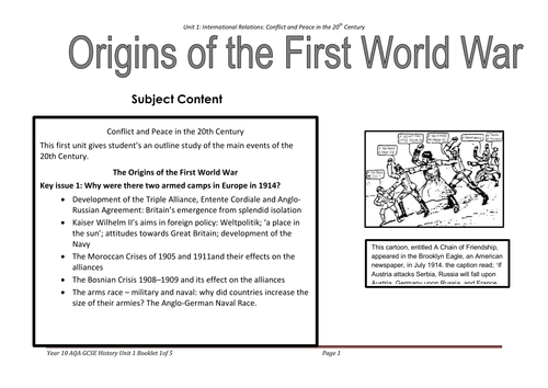 Unit 1 Causes Of World War 1 By Sapphire Saddique