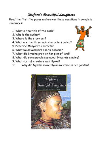 Mufaros Beautiful Daughters Comprehension By Lawood0 Teaching
