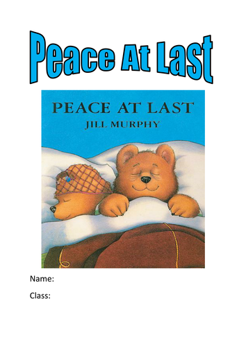 peace at last activity booklet by kayld - Teaching Resources - Tes