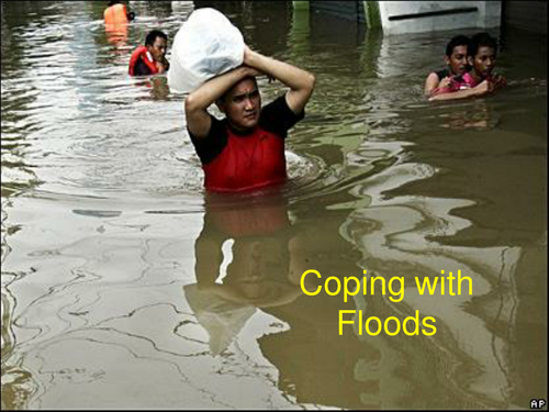 Coping with Floods powerpoint slide show.