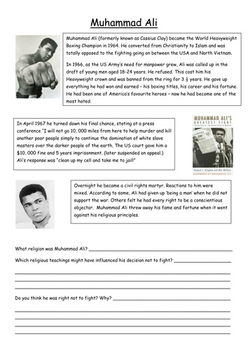 usa civil rights muhammad ali by ballyduffboy teaching resources tes. Black Bedroom Furniture Sets. Home Design Ideas