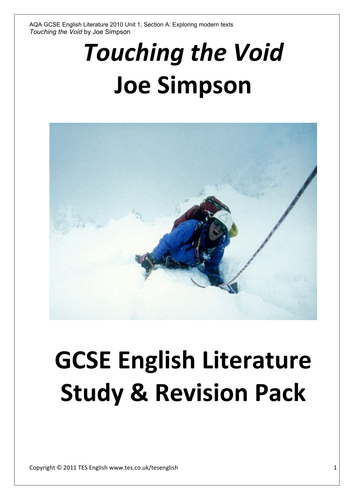 Business Cycle Essay Touching The Void  Study  Revision Pack By Tesenglish  Teaching  Resources  Tes Extended Essay Topics English also Thesis Examples For Essays Touching The Void  Study  Revision Pack By Tesenglish  Teaching  Cause And Effect Essay Thesis