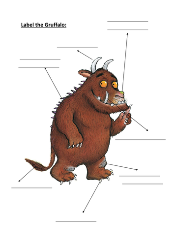 label the Gruffalo activity | Teaching Resources