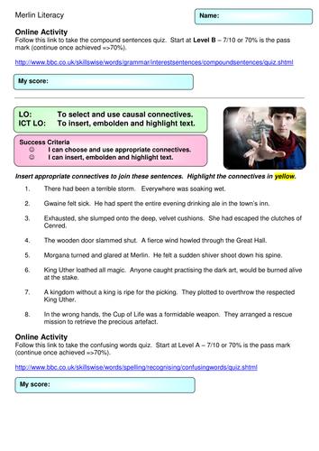 Merlin Literacy Lesson