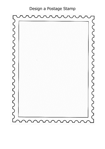 Design A Postage Stamp By Mynameiscait Teaching Resources Tes