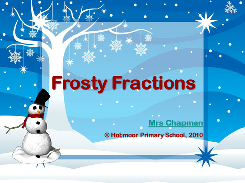 Frosty fractions ppt