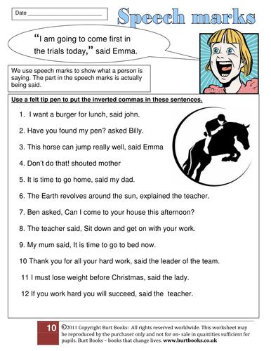 Adding Speech marks to DIRECT SPEECH