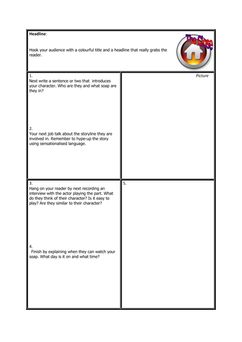 Magazine Article Template   Magazine Article Template Soap Operas By Sc87 Teaching Resources
