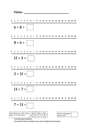 Worksheets Number Line Addition Worksheets addition using a number line by ruthbentham teaching resources tes