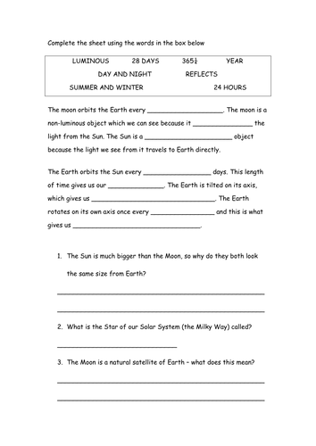Bill Nye Space Exploration Worksheet Worksheets For School ...