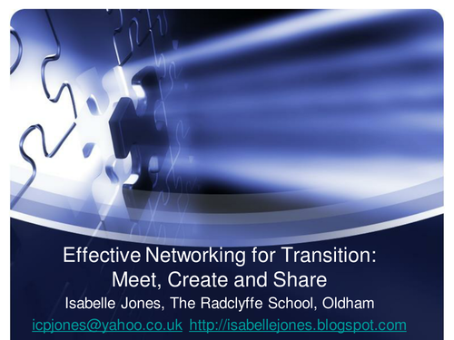 Networking for Effective KS2-3 transition