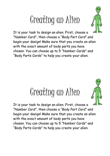 Character Design Course Description : Aliens by lowrip ckle teaching resources tes