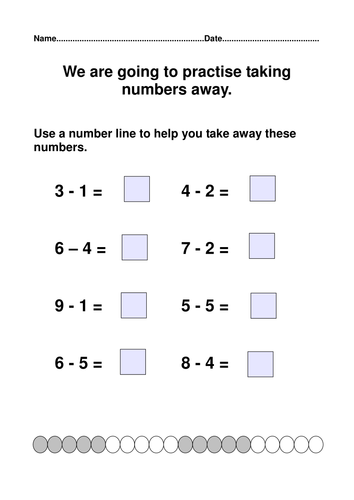 Y1 Addition and subtraction worksheets