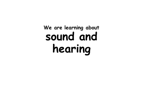 Sound and hearing powerpoint