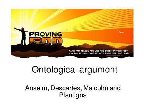 ontological argument essay plan