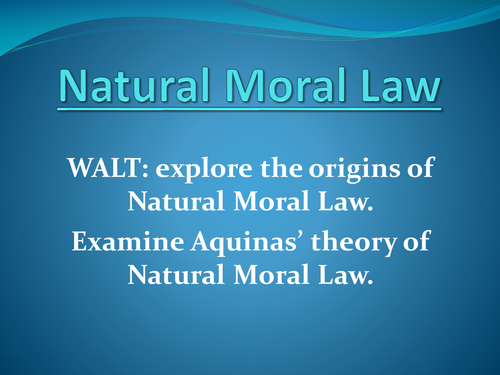 Introduction to Natural Moral Law