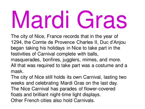 Mardigras by Shabell Teaching Resources Tes – Mardi Gras Worksheets