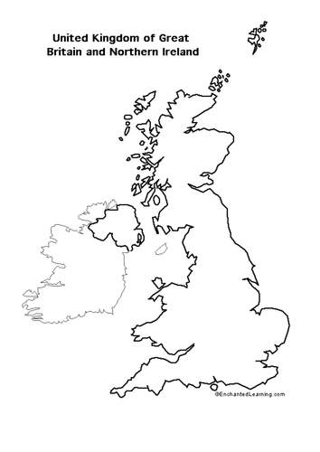 Map Of Uk And Ireland With Cities.Blank Map Of Britain