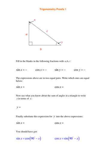 A Level Maths C2 Trig Equations Worksheets By Srwhitehouse