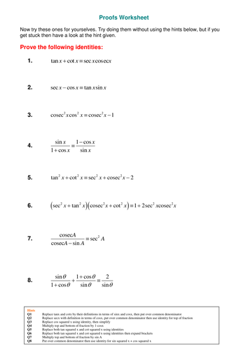 Graphs of inverse trig functions by SRWhitehouse - Teaching ...