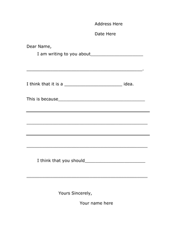 template for writing a memo - a letter template for persuasive writing by lia teaching