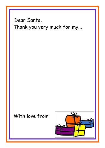 Dear Santa Thank You Letter Template By Kmed2020 Teaching