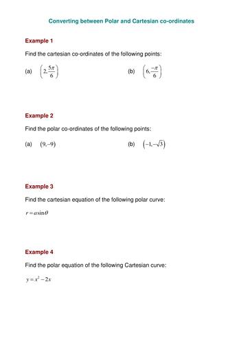 Polar coordinates by SRWhitehouse - Teaching Resources - Tes