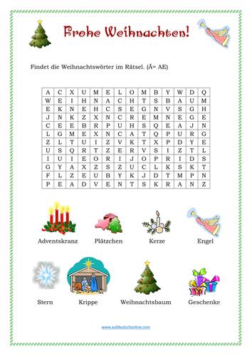 Frohe Weihnachten By Tatjanas Teaching Resources