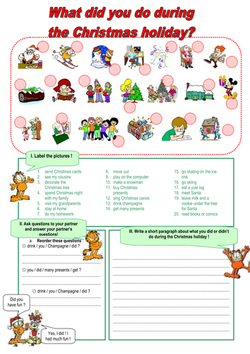 What Did You Do During The Christmas Holiday By Martuska Teaching
