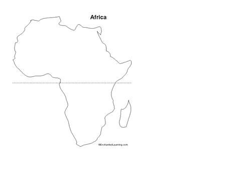 Small Map Of Africa Small blank map of Africa | Teaching Resources