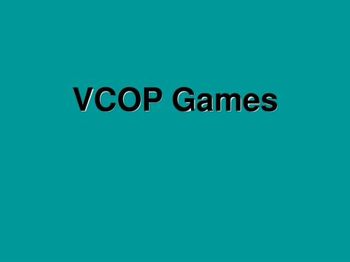 Quick VCOP activities