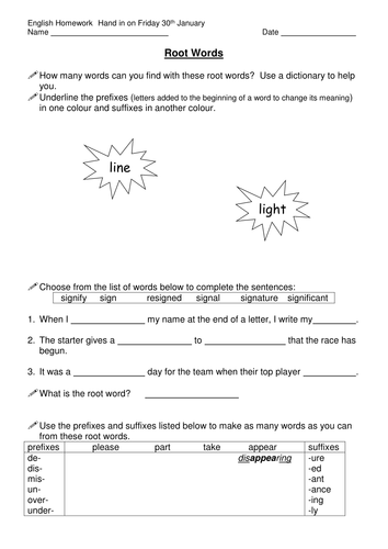 root words worksheet by laurahoneybee teaching resources tes