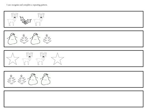 christmas repeating patterns by uk teaching resources tes. Black Bedroom Furniture Sets. Home Design Ideas