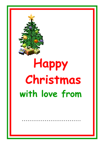 a5 portrait christmas card insert by kmed2020 teaching resources tes