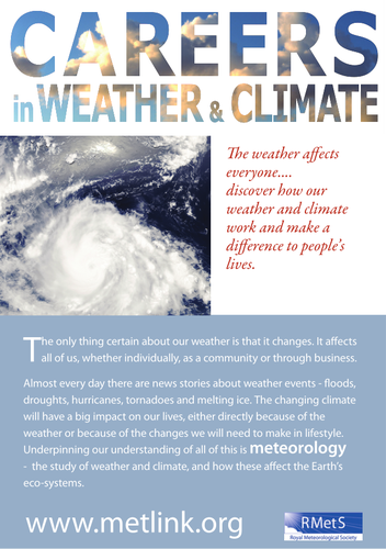 Careers in Weather & Climate factsheet