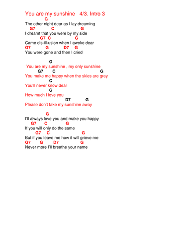 Chords.Lyrics.\' The first Nowell \' by pwilloughby3 - Teaching ...
