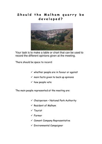 Limestone Landscapes - Malham Quarry Roleplay