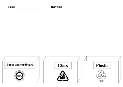 Cut and stick recycling activity