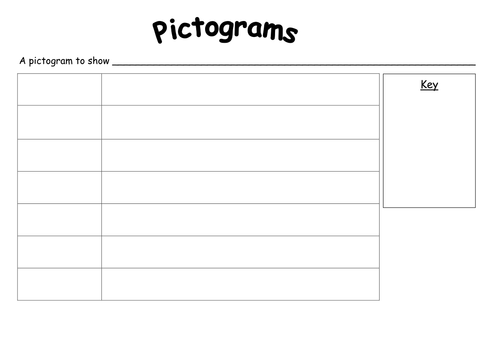 Blank pictogram with key by rachyben - Teaching Resources ...
