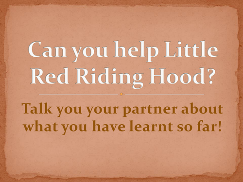 Map making with links to Red Riding Hood