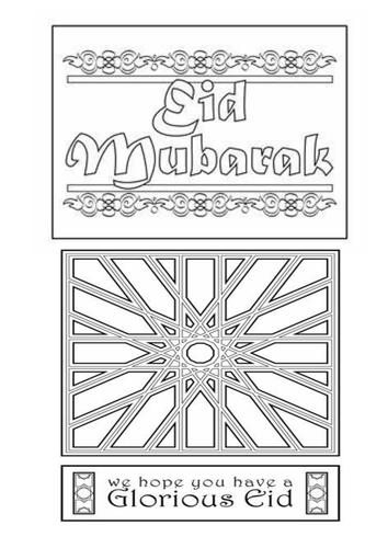 Eid Mubarak printables