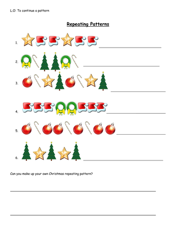 Christmas repeating patterns by vickyb83 - Teaching Resources - TES