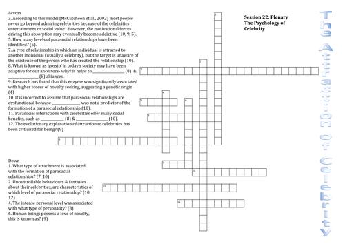 Attraction Crossword