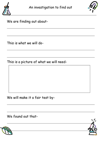 Science Experiment Planning Sheet Ks1 By Ruthbentham